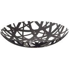 YAMAZAKI home Tower Fruit Bowl – Modern Kitchen Counter Basket Holder, Metal, Black