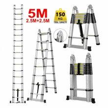 5M Multi-Purpose Aluminium Foldable Telescopic Ladder