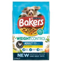 Bakers Adult Weight Control Dog Rich In Chicken With Country Vegetables 2.85kg