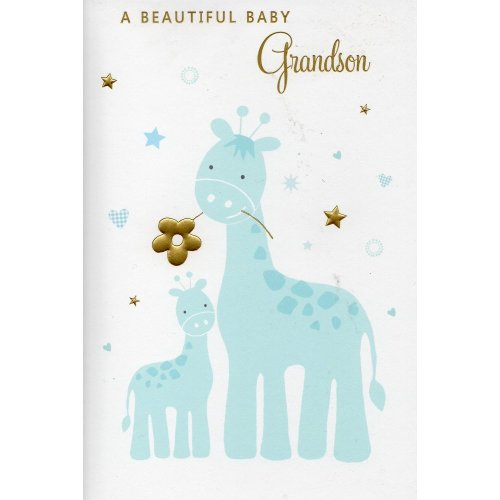 Greeting Card - A Beautiful Baby Grandson