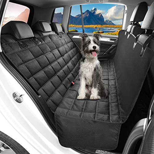 OMORC Dog Car Seat Cover Waterproof & Nonslip Back Seat Cover for Dogs with Side Flaps Durable DogHammock with Seat AnchorsMachine Washable 3in1 Car
