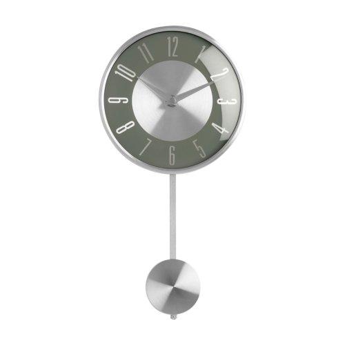Pendulum Wall Clock, Grey/Silver