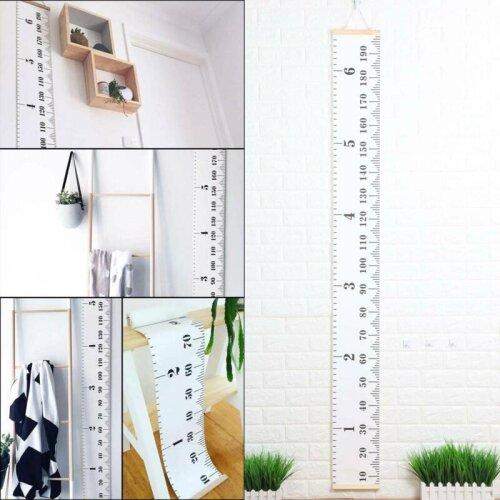 Wooden Kids Growth Height Chart Ruler Kids Room Decor Wall Hanging M