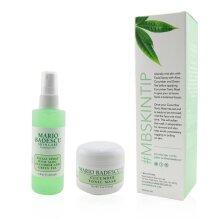 Cucumber Mask & Mist Duo Set: Facial Spray With Aloe Cucumber And Green Tea 4oz + Cucumber Tonic Mask 2oz - 2pcs
