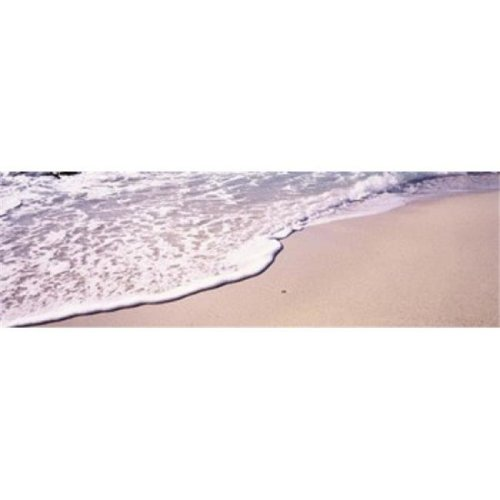 High angle view of surf on the beach  The Baths  Virgin Gorda  British Virgin Islands Poster Print by  - 36 x 12