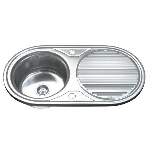 Dihl 1062 1.0 Single Bowl Stainless Steel Kitchen Sink, Drainer & Waste