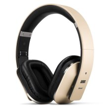 August EP650 Bluetooth Wireless Headphones - Custom Sound Control with Android/iOS App and Bluetooth v4.2, NFC and aptX LL Low Latency - [Gold]