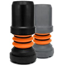 Flexyfoot Shock Absorbing Crutch Ferrules, Choice of Sizes & Colours Available, Improves Grip, Improves Safety, Reduces Slips, Reduces Shock