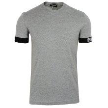 Dsquared2 Men's Grey Melange Double Cuff Detail T-Shirt