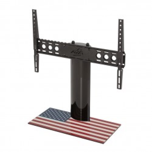 """King Table Top Base Pedestal Stand with Universal Bracket and Stars & Stripes United States of America USA Flag by TV Furniture Direct (12"""" - 65"""")"""