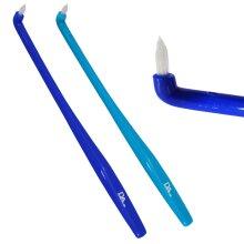 2 x Slim Interspace Toothbrush ~ Tufted End Interdental Orthodontic Braces Teeth