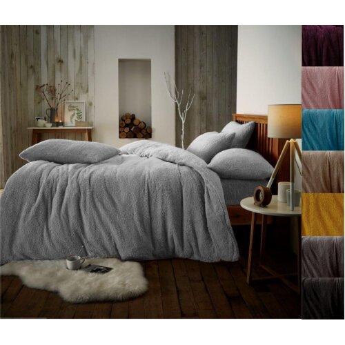 Teddy fleece luxury duvet cover bed set