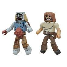 Walking Dead Minimates - Mayor Rick Grimes and Balding Zombie