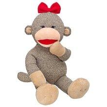 Build a Bear JOY the Sock Monkey 16 in. Stuffed Plush Animal Holiday Toy