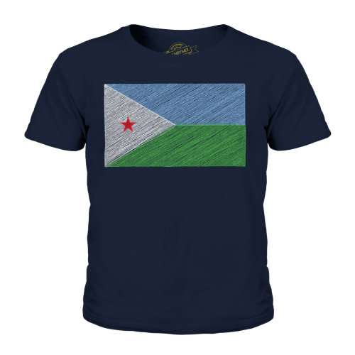 Candymix - Djibouti Scribble Flag - Unisex Kid's T-Shirt