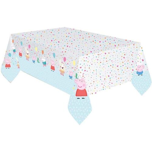 Peppa Pig Rainbow Party Birthday Party Supplies - Plastic Tablecover