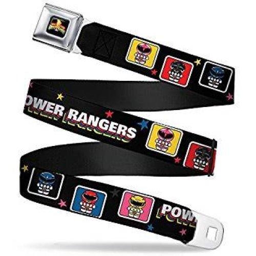 Seatbelt Belt - Power Rangers - V.29 Adj 24-38' Mesh New pra-wpr015