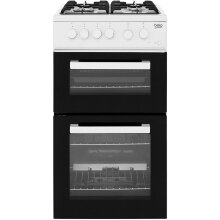 Beko KDG581W 50cm Gas Cooker with Full Width Gas Grill - White