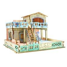 Lembongan Island Seaside Villa 3D Wooden Puzzle