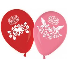 balloons Elena from Avalor 8 pieces 28 cm red/pink