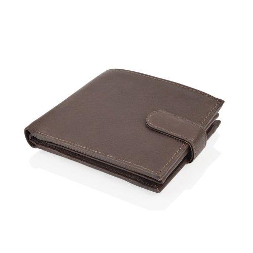 "Woodland Leather Brown Bi Fold 4.5"" RFID Multi-Pocket Wallet"