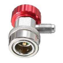 R134A AC Adjustable Quick Coupler Adapter Fitting High Low Manifold Gauge Conversion Set