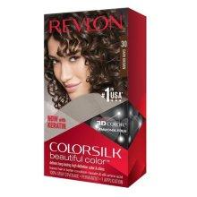 Revlon Colorsilk Permanent Hair Colour Dye 30 Dark Brown 130ml