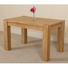 Kuba Chunky Solid Oak 125 cm Dining Table
