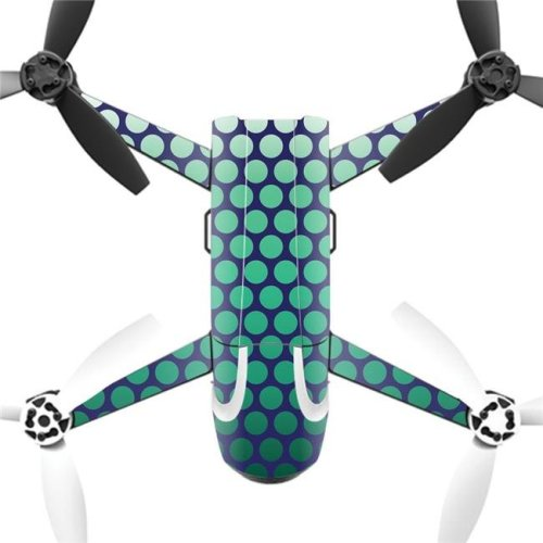 MightySkins PABEBOP2-2Circles Skin Decal Wrap for Parrot Bebop 2 Quadcopter Drone - Circles