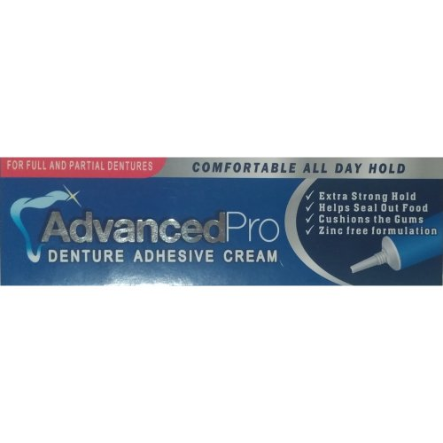 Advanced Pro Denture Adhesive Cream, for full and partial dentures.