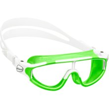 Cressi Kid's Baloo Swim Goggle Mask, Made in Italy, Lime/White, 2/7 Years