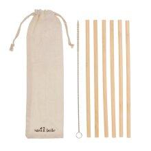 6 Pack Sass & Belle Bamboo Drinking Straws & Brush Eco Friendly