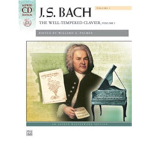 Alfred 00-41426 BACH-WELL TEMPERED CLAVIER 1-BK&2CD