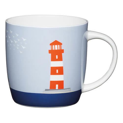 KitchenCraft Set of Four China Lighthouse Barrel Mugs