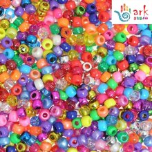 4-in-1 Assorted Pearlised/Glitter/Metallic/Bright Pony Beads PK-1000
