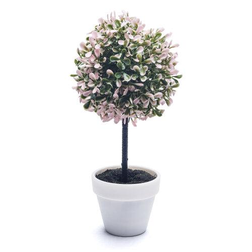 (Medium, Pink) 2X Artificial Outdoor Ball Plant Tree