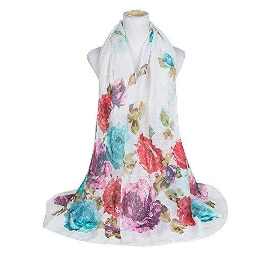Rose Floral Print Sarong, Coverup, Scarf, Big Size