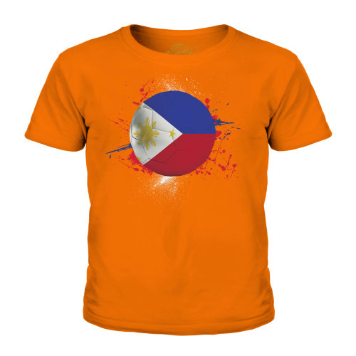 (Orange, 5-6 Years) Candymix - Philippines Football - Unisex Kid's T-Shirt