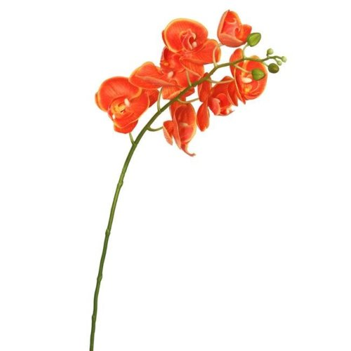 Vickerman FA172203 Real Touch Orchid-7 Heads Floral Stem, Orange