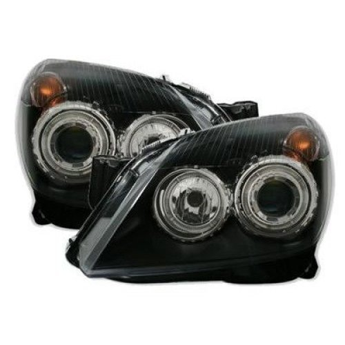Vauxhall Astra H Mk5  2004-2010 Black Angel Eyes Halo Headlights Pair