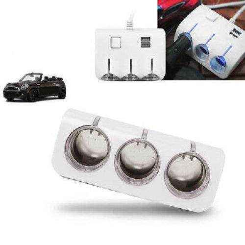 3 Way Car Cigarette Lighter Socket Splitter Charger Power Adapter 12V