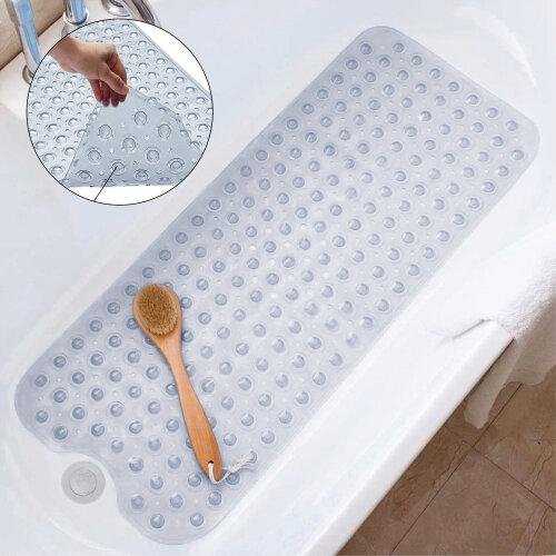 NON SLIP BATH MAT STRONG RUBBER SUCTION SHOWER MAT
