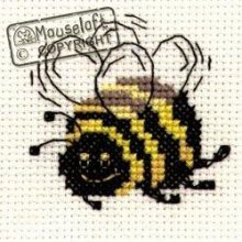 Mouseloft Mini Cross Stitch Kit - Bee, Stitchlets Collection