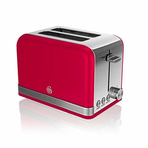 Swan ST19010RN 2-Slice Retro Toaster - Red