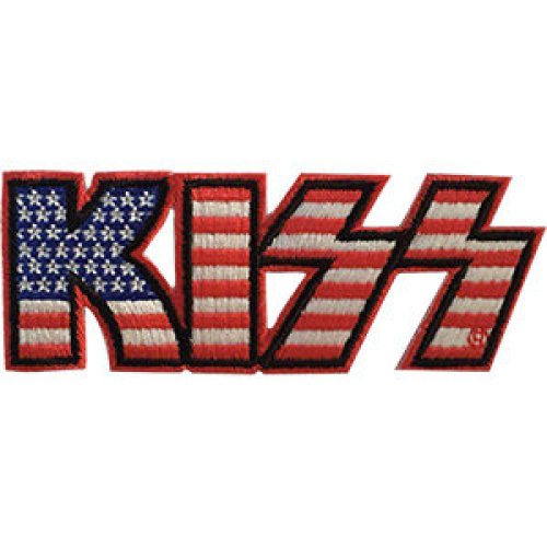 Patch - Kiss - Logo American Flag Icon-On p-4636