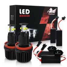 Win Power H8 40w Cree LED Angel Eyes Halo Ring Marker Bright White Light Bulbs E60 E61 E63 E64 E70 E71 E82 E87 E89 E90 E91 E92 E92 E93
