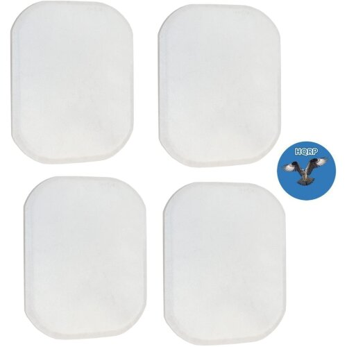 HQRP Filter Pad (4-pack) for Dyson DC01 Long Life Washable Filter 907675-01 / 90767501 Replacement + HQRP Coaster
