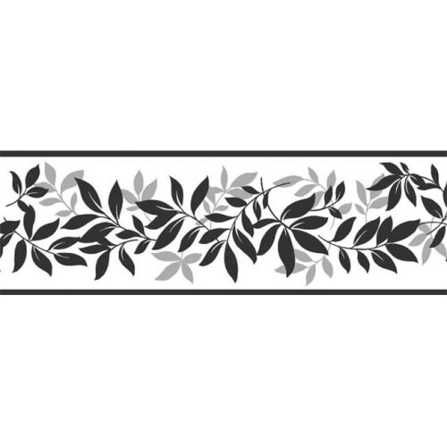 Fun4Walls TFDB07508S Multicolor Leaf Trail Peel & Stick Border - Set of 2