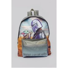 Star Wars The Mandalorian And Child Stoke Roxy Backpack Grey