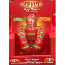 Deep Heat Muscle Massage Roll-On Lotion 50mlx3